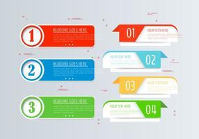 Set di banner infografica vettoriale