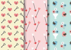 Free Valentine's Day Romantic Pattern vector