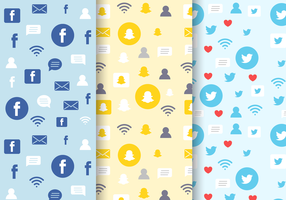 Gratis Social Media Pattern vector