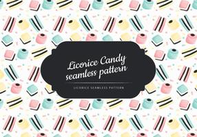 Vector Hand Drawn Liquorice Candy Pattern