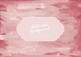 Vector Red Smudges Watercolor Background
