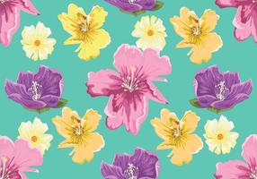 Rhododendron Seamless Pattern Vector