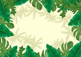 Palmetto Leaves Background vector
