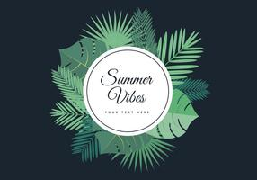 Tropical Summer Palm Vector Background