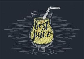 Free Hand Drawn Vector Juice Illustration