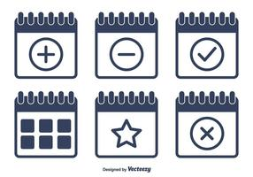 Vektor flache Kalender Icons