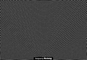 Vector White Halftone Background