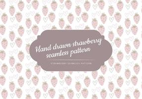 Vector Hand Drawn Strawberries Pattern