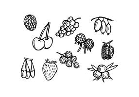 Gratis Berries Hand Drawn Icon Vector
