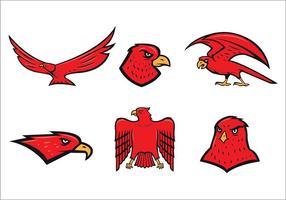 Vector libre de la mascota del halcón