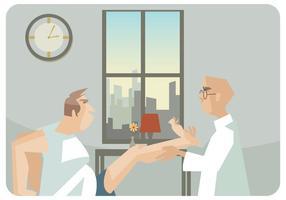 Physiothérapeute donnant un vecteur de massage de jambe