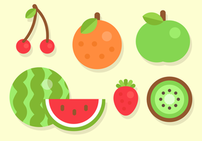 Free Flat Fruit Vector