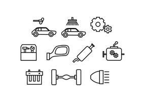 Gratis Automotive Line Icon Vector