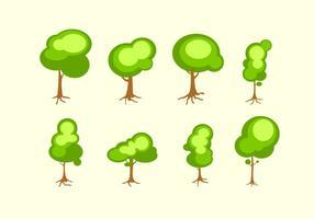 Árbol brillante con las raíces vector libre