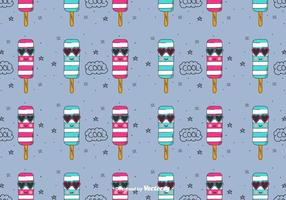 Cool Ice Cream Vector Pattern