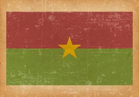 Flag of Burkina Faso on Grunge Background