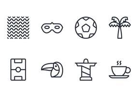 Icono de línea de Brasil