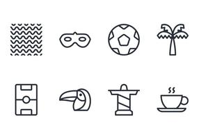 Brasilien Line Icon