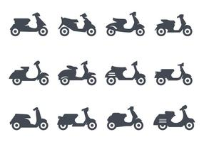 Scooter Icons Vector