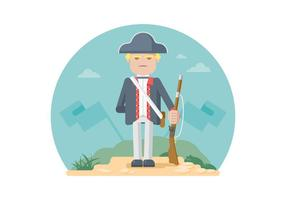 Colonial Soldier Illustration