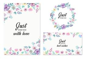 Free-vector-wedding-invitation-with-watercolor-flowers