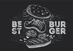 Free Hand Drawn Vector Burger Illustration