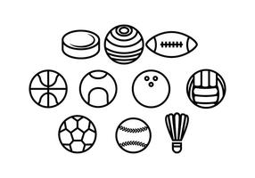 Ball Line Icon Vector