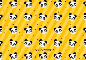 Cute Panda Pattern - Vector