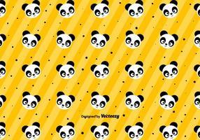 Teste padrão bonito da panda - vetor