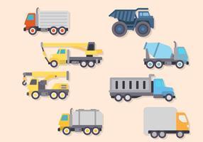 Vectores de camiones planos