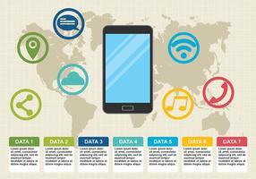 Vector d'infographie de téléphone
