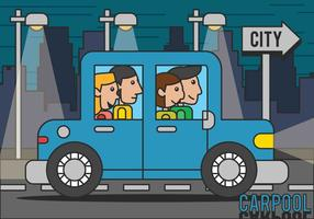 Illustrazione di car pooling