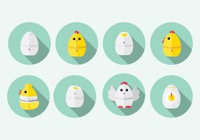 Chick Egg Timer Vector