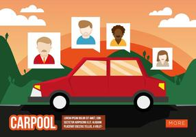 Carpool Ilustración Plano Vector