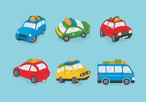 Colorful Carpool Vector illustration