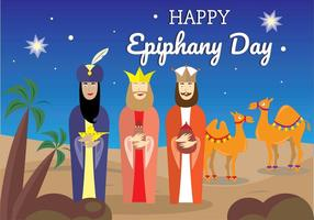 Happy Epiphany días conjunto de vectores