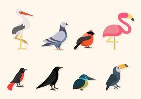 Vectores pájaros planos
