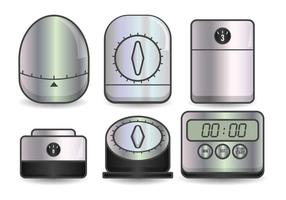 Egg timer realistic illustration set
