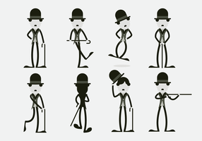Funny Charlie Chaplin Character Vector