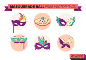 Boule de mascarade gratuit Pack Vector