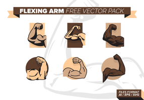 Flexing Arm Free Vector-Pack