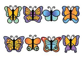 Mariposa del vector del icono