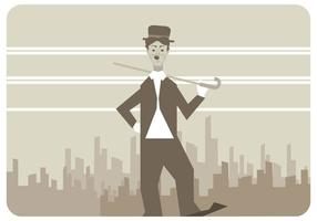 Charlie Chaplin vector walking