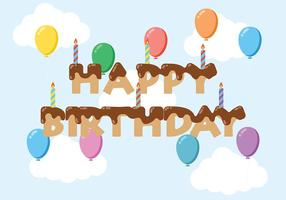 Happy Anniversaire Background Vector