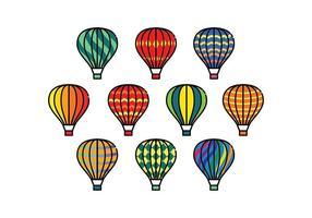 Vecteurs colorés gratuits de ballons à air chaud