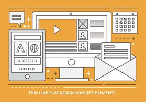 Free Flat Linear Vector Design Illustration