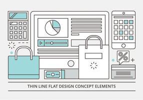 Freie Wohnung Linear Vector Design Illustration