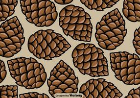 Pine Cone Seamless Pattern - Vector