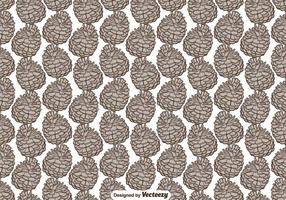 Seamless Pattern With Hand Drawn Pine Cone - Vector
