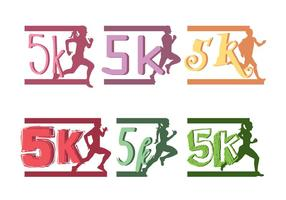 Vecteur 5k Marathon